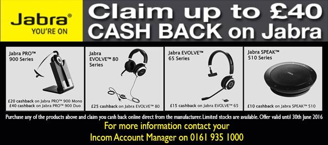 Jabra Q2 cash back offers