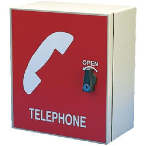 Storacall Indoor Telephone Cabinet Red